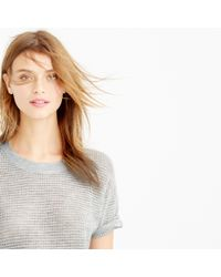 J.Crew | Gray Collection Cashmere Short-sleeve Pointelle Sweater | Lyst