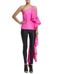 Rosie Assoulin - Pink Sir Hangs-a-lot Ruffled Silk Gown - Lyst