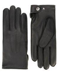 Lanvin - Black Wool Lined Gloves for Men - Lyst
