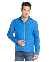 Marc New York - Ocean Blue 'reece' Snap Tab Motocross Jacket for Men - Lyst