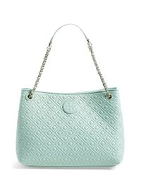 Tory Burch | Blue Marion Quilted Leather Tote | Lyst