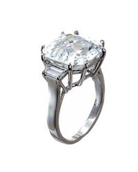 Kenneth Jay Lane | Metallic Asscher Cut Prong Ring | Lyst