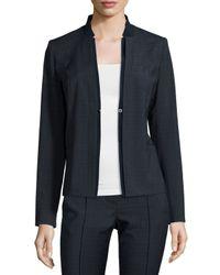Elie Tahari - Blue Ava Plaid Suiting Jacket - Lyst