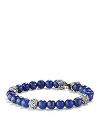 David Yurman | Blue Spiritual Beads Bracelet With Lapis Lazuli for Men | Lyst