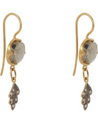 Cathy Waterman - Metallic Women's Leaf Drop Earrings - Lyst