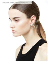 Luv Aj - Black Crystal Cross Earrings - Lyst