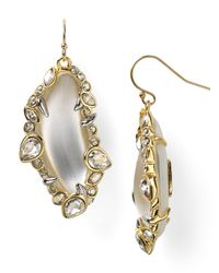 Alexis Bittar - Metallic Lucite Jagged Edge Crystal Framed Dangle Wire Earrings - Lyst