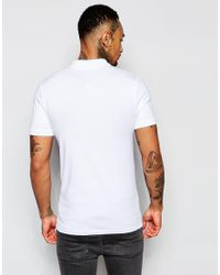 ASOS - Extreme Muscle Polo Shirt In White for Men - Lyst