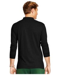 Polo Ralph Lauren | Black Big And Tall Long-sleeved Pima Soft-touch Polo Shirt for Men | Lyst
