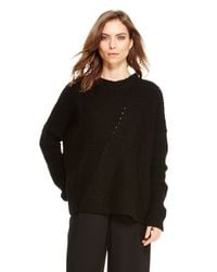 DKNY | Black Pure Novelty Stitch Pullover | Lyst