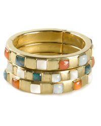 Vaubel - Multicolor Square Stone Triple Bangle - Lyst