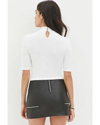 Forever 21 | White Fashion Issues Crop Top | Lyst