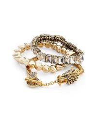 BaubleBar | Metallic 'Fire & Ice' Bracelets | Lyst