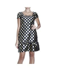 Boutique Moschino | Black Square Pattern Dress | Lyst