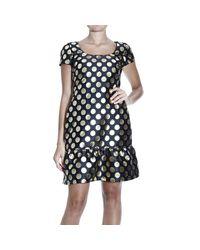 Boutique Moschino | Metallic Square Pattern Dress | Lyst