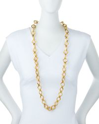 Stephanie Kantis - Metallic Element Square Link Chain Necklace - Lyst