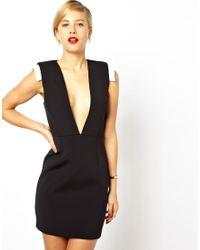 ASOS - Black Premium Structured Body-conscious Dress - Lyst