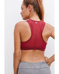 Forever 21 - Red High Impact - Mesh-paneled Sports Bra - Lyst