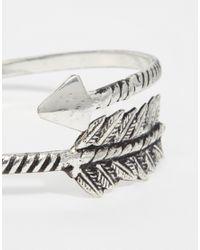 ASOS | Metallic Open Arrow Leaf Arm Cuff | Lyst