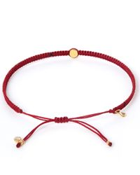Tai - Small Red Evil Eye Woven Bracelet - Lyst