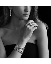David Yurman - Metallic Labyrinth Link Bracelet With Diamonds - Lyst