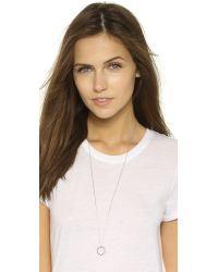 Monica Rich Kosann - Metallic Carpe Diem Ring Necklace - Silver/clear - Lyst