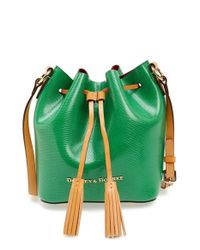 Dooney & Bourke | Green 'serena' Embossed Leather Crossbody Bag | Lyst
