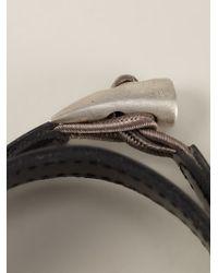 JvdF | Black Hand-Painted Repp Stripe Bracelet | Lyst