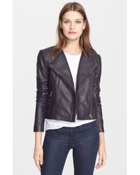 VEDA | Purple 'Dali' Leather Jacket | Lyst