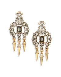 ABS By Allen Schwartz | Metallic Bitter Not Sweet Jewel Dagger Chandelier Earrings | Lyst