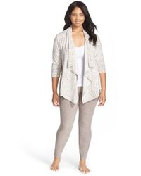 DKNY | Gray City Cardigan And Leggings Set | Lyst