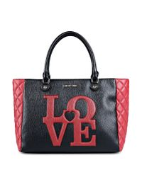 Love Moschino - Black Large Fabric Bag - Lyst