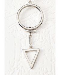 Forever 21 | Metallic Geo Cutout Drop Earrings | Lyst