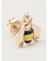 Alison Lou | Metallic Bee Stud Earrings | Lyst