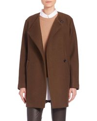Theory - Brown Venizka Camden Wool Twill Coat - Lyst