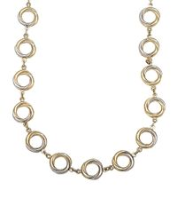 Lord & Taylor | Metallic 14 Kt. Yellow Gold Circle Twist Necklace | Lyst