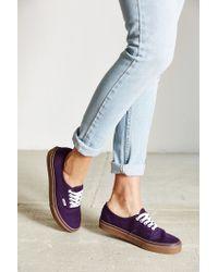 Vans - Purple Authentic Gumsole Sneaker - Lyst
