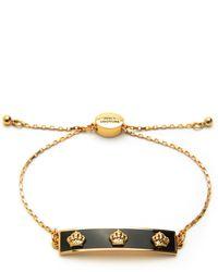 Juicy Couture   Metallic Enamel Crown Slider Bracelet   Lyst