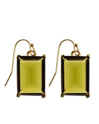 Brooks Brothers | Green Glass Bead Drop Earrings | Lyst