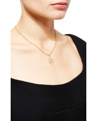 Buccellati - Metallic Pendant Necklace With Diamonds In Yellow Gold - Lyst