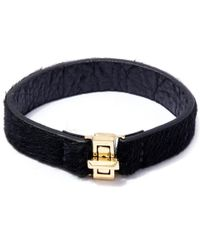 George Frost - Metallic Gold-plated Bond Calf-hair Bracelet - Lyst