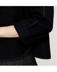 LOFT - Black Petite Tipped Wooly Jacket - Lyst