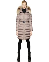 Moncler | Natural Fabrefox Nylon & Micro Lux Down Coat | Lyst