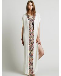 Free People | Multicolor Jen S Pirate Booty Womens Embroidered Maxi Kaftan | Lyst
