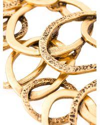 Oscar de la Renta - Metallic Multi Hoops Necklace - Lyst