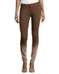 ESCADA - Brown Ombre Denim Skinny Pants - Lyst