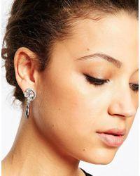 ASOS - Metallic Party Statement Crystal Drop Earrings - Lyst