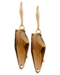 Robert Lee Morris | Metallic Bronze-tone Faceted Stone Drop Earrings | Lyst