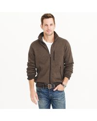 J.Crew | Brown Summit Fleece Full-zip Jacket for Men | Lyst