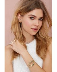 Nasty Gal | Metallic Suck My Kiss Bracelet | Lyst
